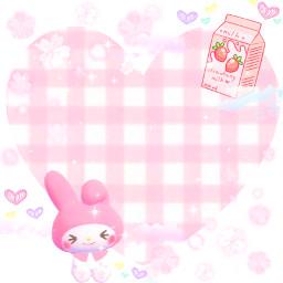 heart mymelody anime japan sanrio kuromi hellokitty cute kawaii sakura flower bunny kerroppi animal strawberrymilk milk pink sparkle sparkles freetoedit