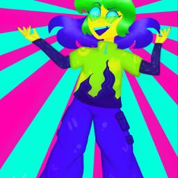 art digitalart neon digitaldrawing drawing illustration myoc oc