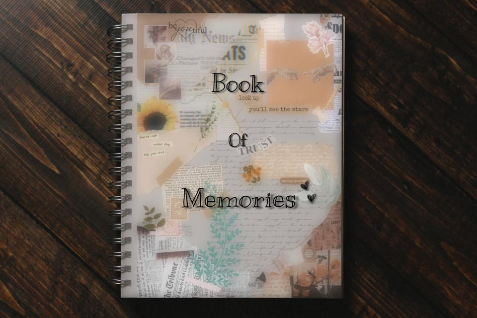 #collage #paper #book #memories #sweet