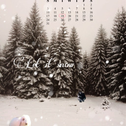 january calender snow winter letitsnow let_it_snow snowbunnies snowrabbits bunny bunnies rabbit rabbits cute white trees forest freetoedit srcjanuarycalendar januarycalendar