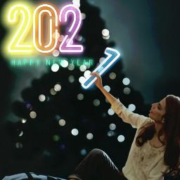 christmas 2021 newyear girl neon freetoedit srchappynewyear2021 happynewyear2021