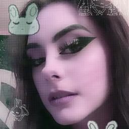 cybercore cyber drain draingang riotgrrrl riotgrrl catgirl bunny glitchcore dreamcore angelcore purple alt scene aesthetic altcore alternative draincore freetoedit