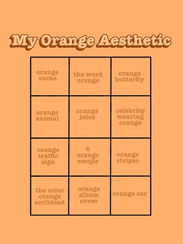 #chart #boxes #challenge #color #aesthetic #orange