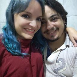 casal couple frannies2 jdsgamer cabeloazul bluehair blue azul