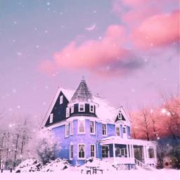 freetoedit house winter snow snowy