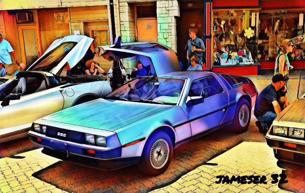 #photography #colorful #80's  #Delorean  #Classic #cool #fun  t#imemachine  #backtothefuture