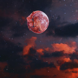 moon stars star galaxy space girl purple pink night lights fantasy fairy dream dreamy magical beauty beautiful sky clouds sparkles sparkle effect edit myedit freetoedit