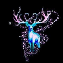deer fantasy fairytale fairy winter wintertime glitter stars animal blue magic freetoedit