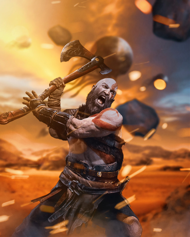 Kratos #godofwar #kratos #atreus #heypicsart #artoftheday #bestoftheday #alien #gamerlife #olympus #spaceship #axe #god #titan #artistic #travel #explore #spartan #sundayart #inspire #createsomethingneweveryday #createyourown #createart #gods #fantasyworld