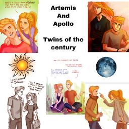 pjo twins apollo artemis freetoedit