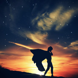 2021 legend woman supergirl super marvel dc picsart freetoedit replay sticker shadow hero sunset cape unsplash