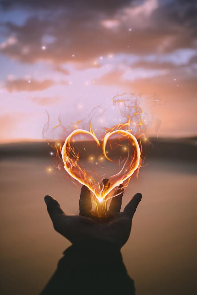 #myedit #madewithpicsart #fireheart #fire #heart #quickedit #picsarteffects #sparklebrush #maskeffect #gradientmask