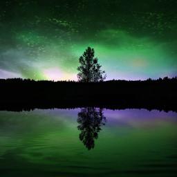 unsplash northernlights freetoedit