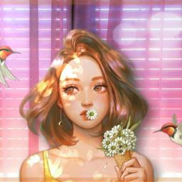 girl birds light freetoedit fcmybesteditsof2020 mybesteditsof2020