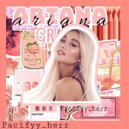 arianagrande peach coral pink positions freetoedit