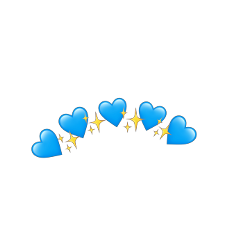 heart emoji coracao emojiiphone freetoedit remixed remix remixit star estrela crown heartcrown blue azul heartblue coracaoazul engagement like salva estrelasbrilhantes
