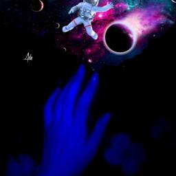 galaxy galaxies stars night hand quote quotes darkart glow astronaut planets universe heypicsart papicks background freetoedit girlhand remixit