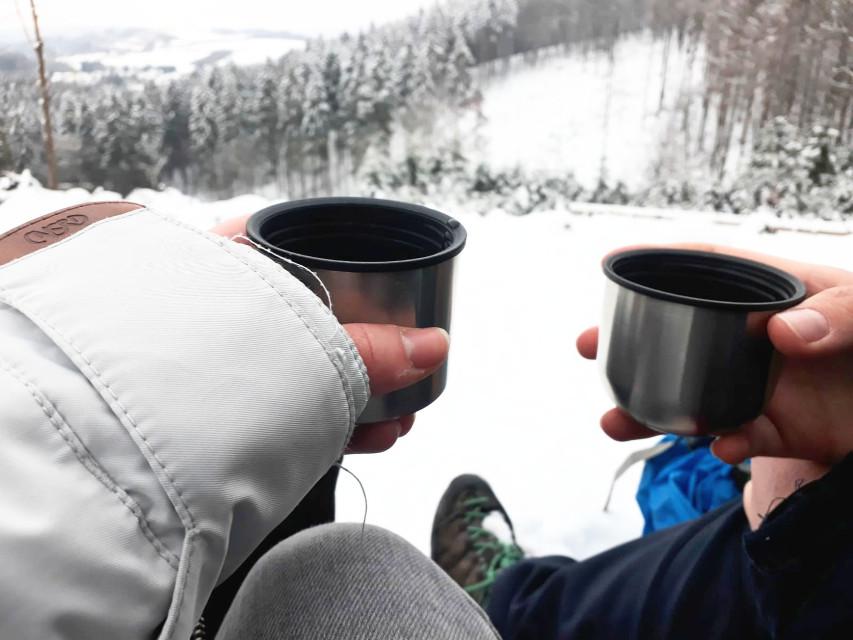 #wanderlust #snowyforest #tea #winter