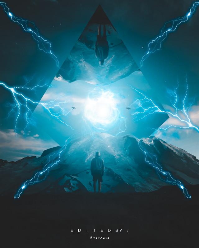 - - - - - - - - - - -   #blue #Lightning #darkblue  #sky #man #boy #Birds #Gate #dark #Travelthroughtime #epic #perfect #bluesky #blueaesthetic #bluebackground #bluebird #art #vipaziz #poster #movieposter #light #glow #bluelight #notfreetoedit #triangle
