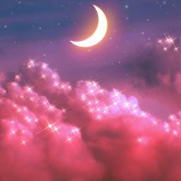 unsplash myedit background moon sky clouds glitter sparkle aesthetic pinkaesthetic makeawesome madewithpicsart papicks heypicsart stayinspired pa aesthetics creative freetoedit