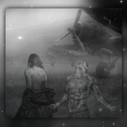 blackandwhite surrealism fantasyart emotions imagination love lovesick airplane airport photoediting picsarteffects editbyme madewithpicsart