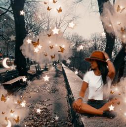 replay interesting imagination photomanipulation surreal clouds butterflys freetoedit