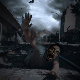 zombie zombieapocalypse zombieart freetoedit