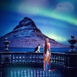 myriam70 surreal nightlight auroraborealis