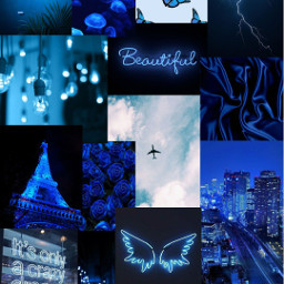 freetoedit collage blue blueaesthetic aesthetic beautiful photocollage fotoedit bluehair blues lightblue turquoise