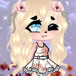 flower flowergirl garden summer girl gachalife edit hi oof cheese freetoedit