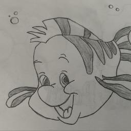 emoismcontest drawing disney fishies flounder thelittlemermaid
