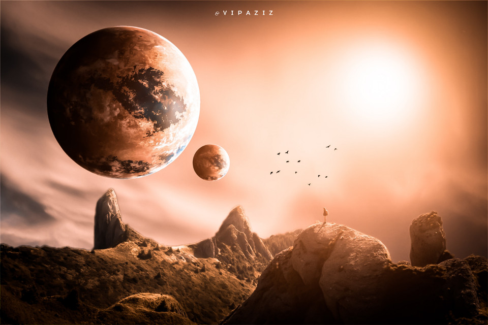 - - - - - - - - - - - - - - - - -   #nature #planet #brown #sky #brownsky #yellow #Planets #epic #awesome #man #earth #Mountains #Birds #background #clouds #sun #light #Mountain #wow