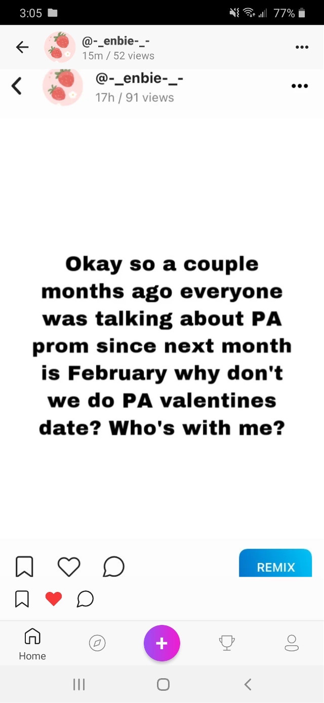 PA prom for VALENTINES?! 👀 #what