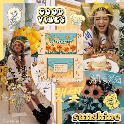 alexa yellow yellowaesthetic sunshine floweraesthetic freetoedit
