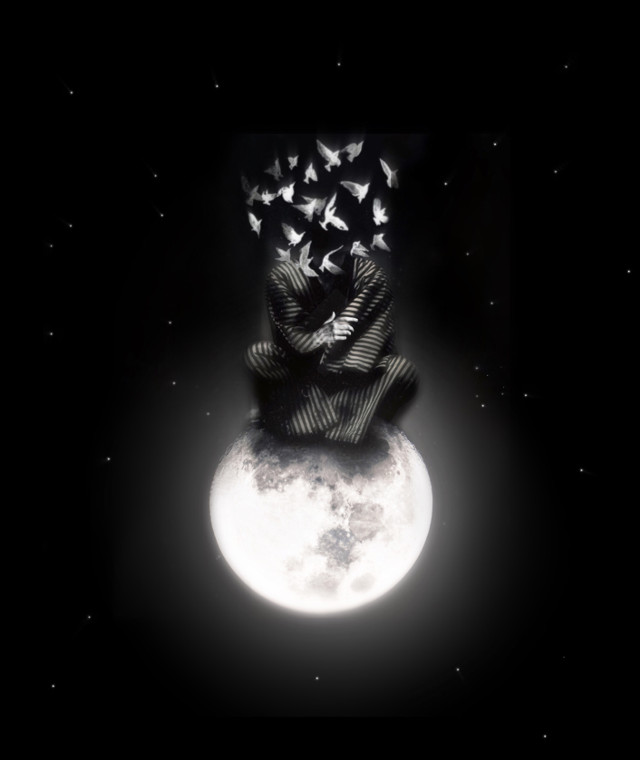 Free Your Mind  #myedit #heypicsart #art #surreal #surrealism #moon #meditation #man #birds #starrynight #blackbackground #fx #stickers #edit #makeawesome #becreative #picsart #papicks #remixit @picsart