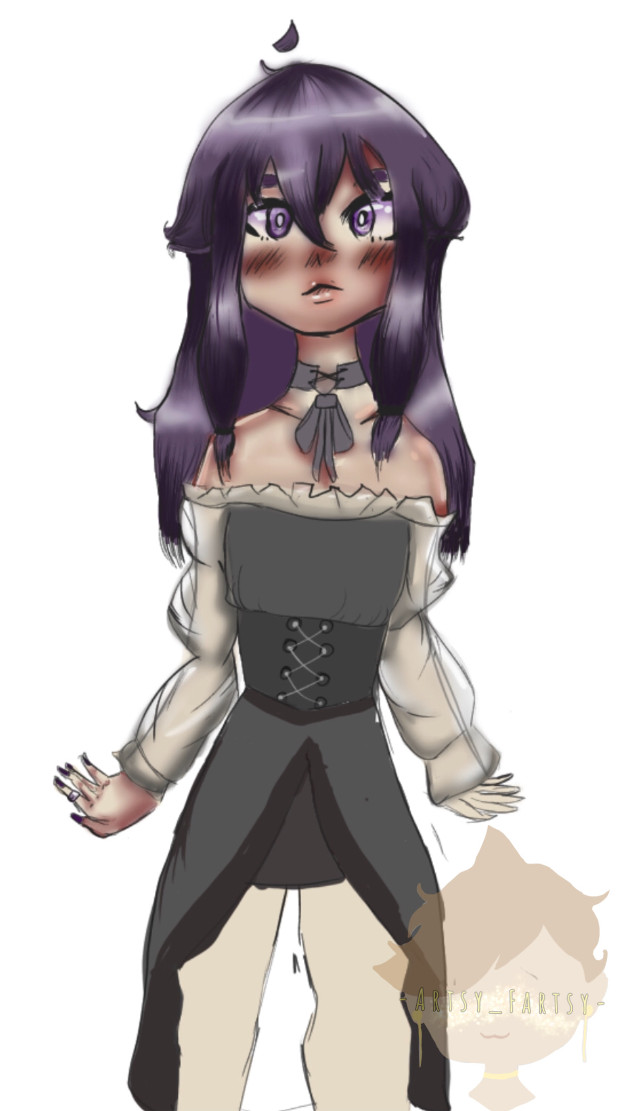 W.I.P probobly never going to finish it, but I loved how it turned out! 💕  Hashtaggggggggs ____________________ #wip #art #heypicsart #doodle #goth #gothaesthetic #purpleaesthetic #cute #cutie #emo #myart #doodle #drawing #eyes #chibi #anime #animeart #outfitinspo #myoc #oc #animeartstyle