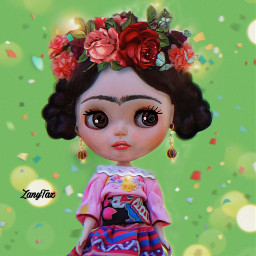 freetoedit myedit fridakahlo doll frida
