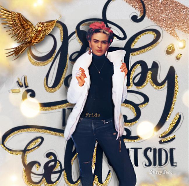 Frida got #swag #babyitscoldoutside #myedit #fridakahlo #unibrow_queen #fierce #modernstyle #photoedit 😎📸🖤💕#freetoedit