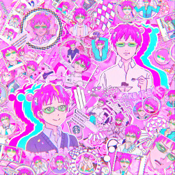 saikikusuo saiki pink neon animeedit thedisastrouslifeofsaikik saikik anime asthetic astheticallypleasing astheticedit sparkle sparkleedit