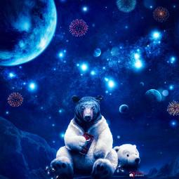 bear newyear surreal myriam70 photomanipulation