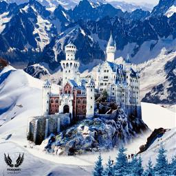mountain mountainscape makeawesoem heypicsart myedit editbyme replay tree castle winter winterfeels freetoedit unsplash
