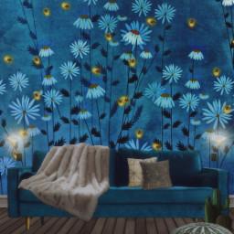 flower floweraesthetic fireflies blue daisy irccomfysofa freetoedit