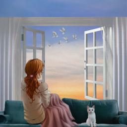 view sight sky window calm freetoedit irccomfysofa comfysofa