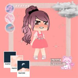 picsart stickers clothes pink anime animegirl freetoedit
