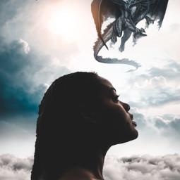 freetoedit gameofthrones game_of_thrones dragon sky