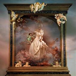 ectherenaissance therenaissance cherub cherubs frame