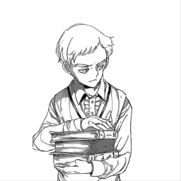 tpn norman thepromisedneverland manga anime animeappicon grey black white