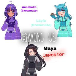 animeamongus cute imposter crewmate freetoedit
