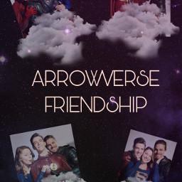 arrowverse greenarrow supergirl flash friendship freetoedit