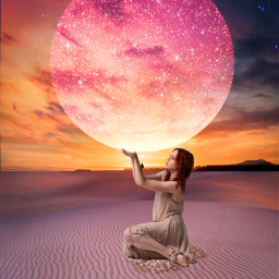 myedit moon brilliant replayedit sky universe picsartmaster artwork freetoedit